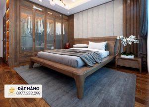 Giường ngủ gỗ sồi 2021